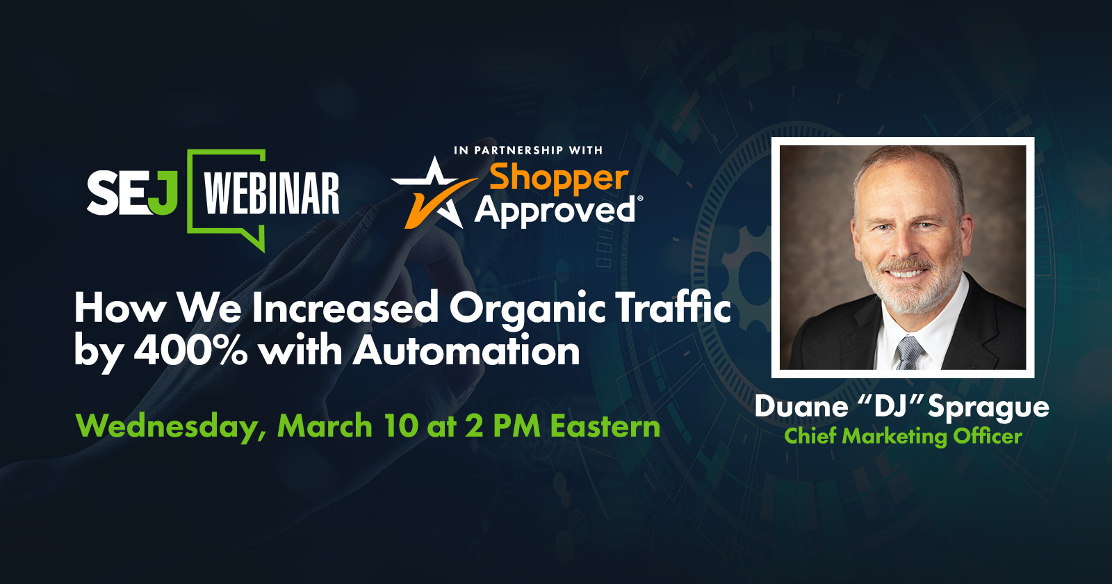 How to Increase Organic Traffic by 400% with Automation [Webinar] via @lorenbaker
