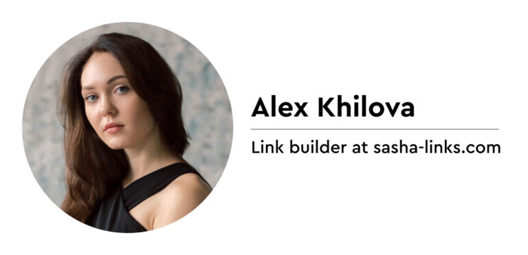 Alex Khilova on link building and Domain Authority