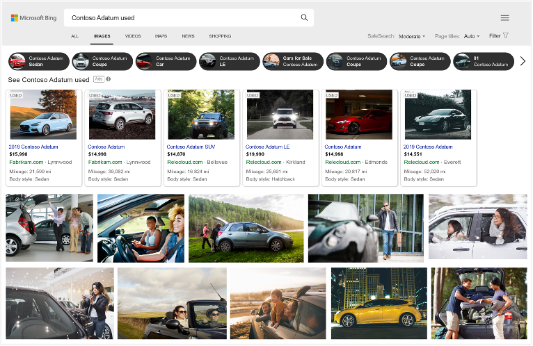 Example of Automotive Ads Bing Image Results