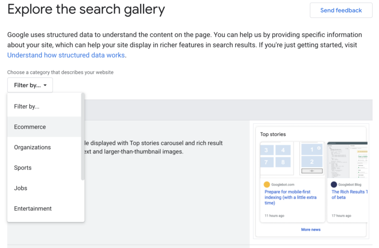 Explore the Search Gallery