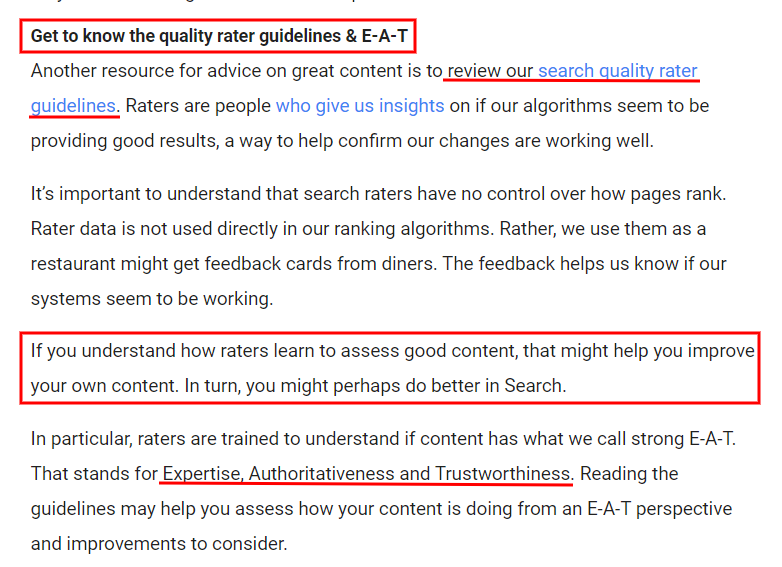 Search Quality Rater Guidelines and E-A-T (Expertise, Authoritativeness, Trustworthiness)