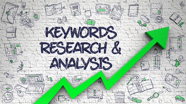 Concept art showing the effects of keyword research and analysis