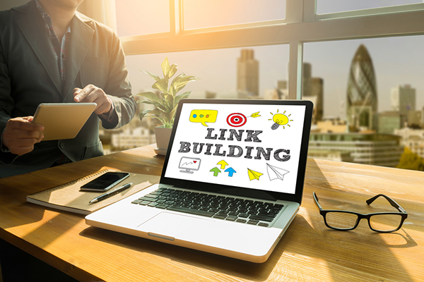 Concept art showing the importance of link building as part of an SEO strategy