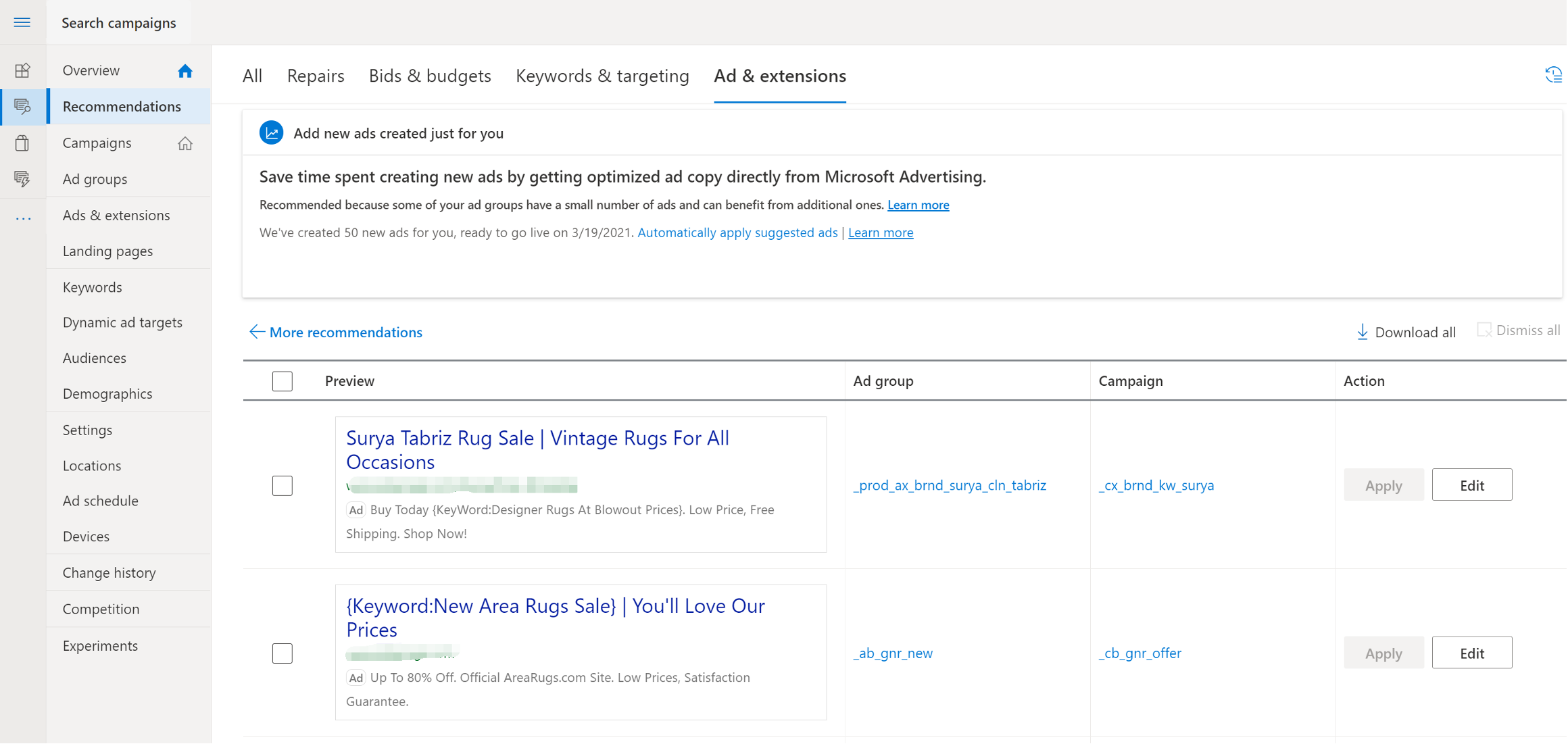 Microsoft to Auto Apply Ad Suggestions