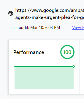 AMP cache impact on web vitals performance
