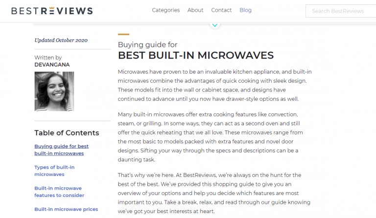 Buying guide for microwaves.