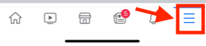 Click on the hamburger menu to access your settings.