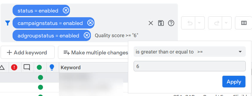 Quality score 6 or greater - 10 Tips for Cleaning up After a Google Ads Account Takeover