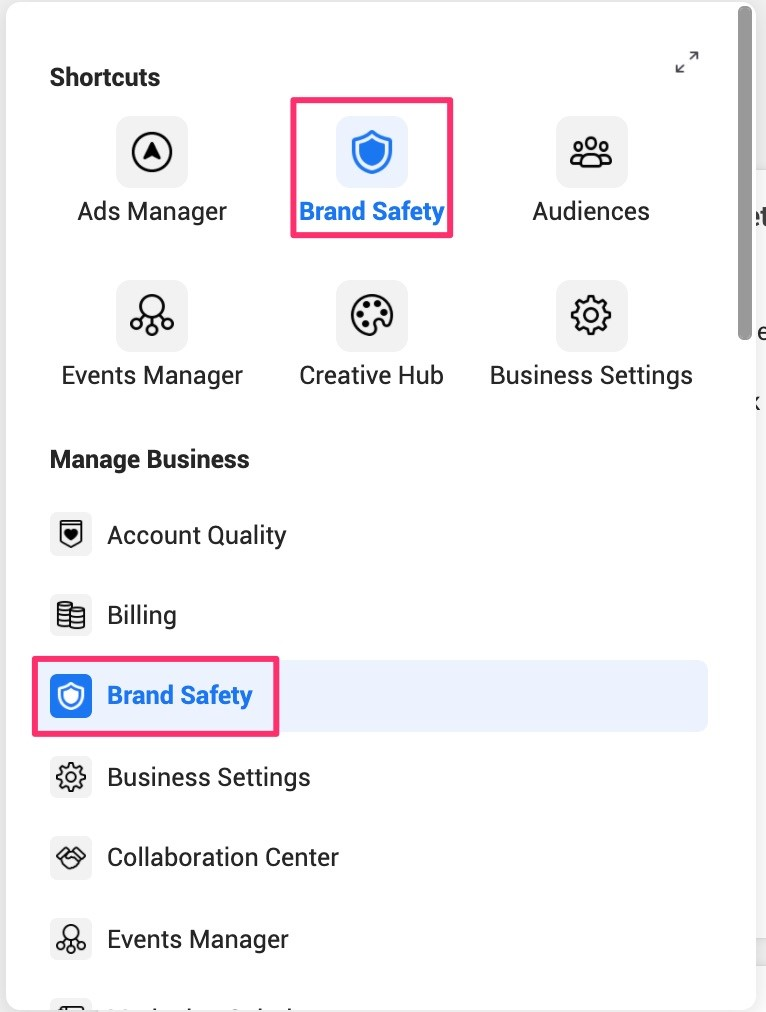 Brand Safety section.