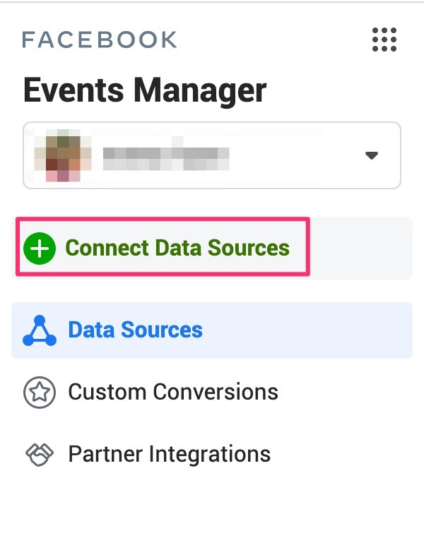 Pop out option to connect data sources.