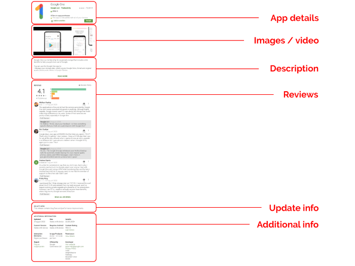 Example of ASO in Google Play - Vertical Leap ASO