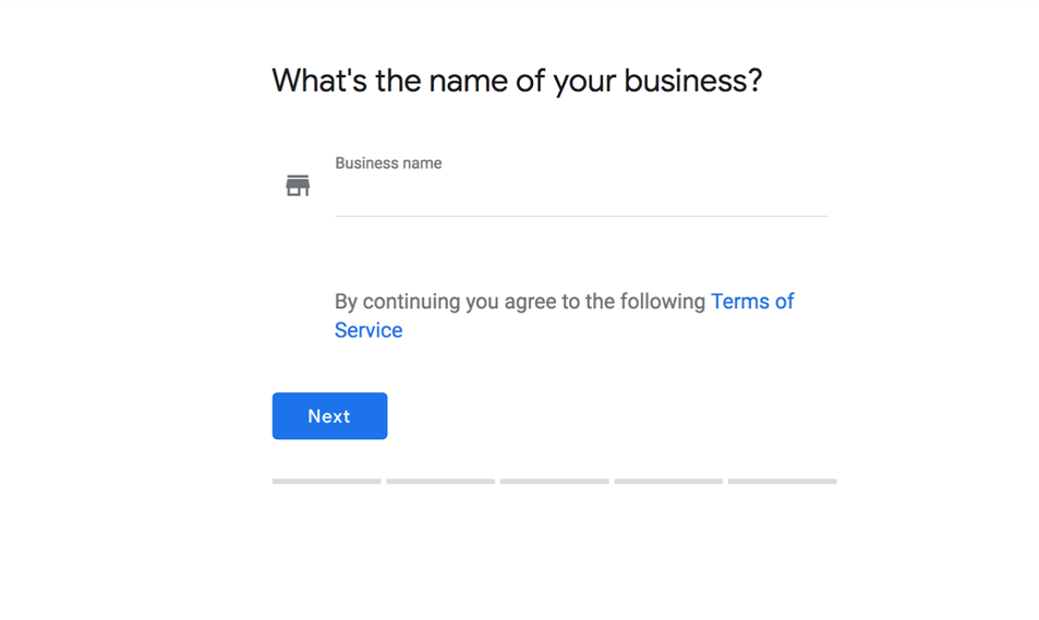 Old claiming process of Google My Business.
