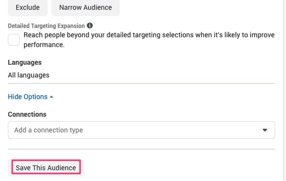 How to save audiences.