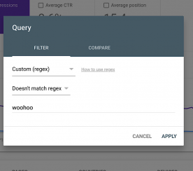 Google Search Console Adds New Regex Filter Options