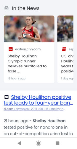 Screenshot of Brave Search on a Mobile Device