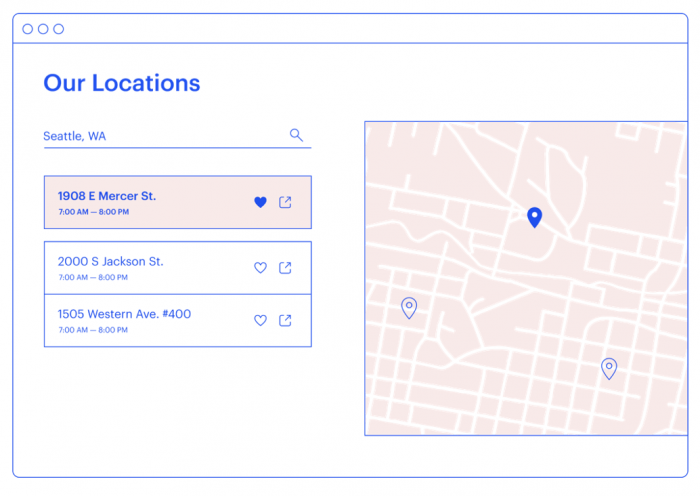 Embed a map of your locations