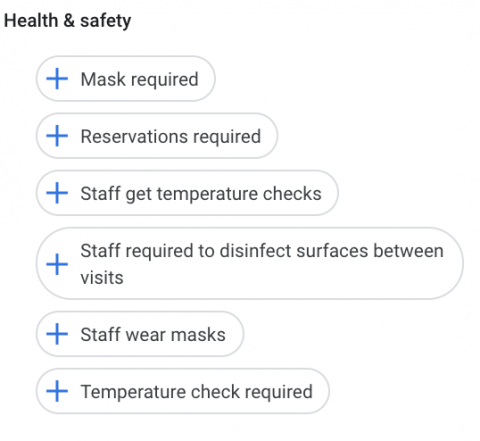 Health and safety attributes
