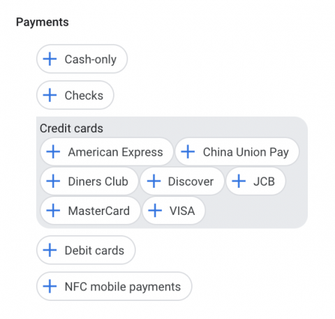 Payments attribute