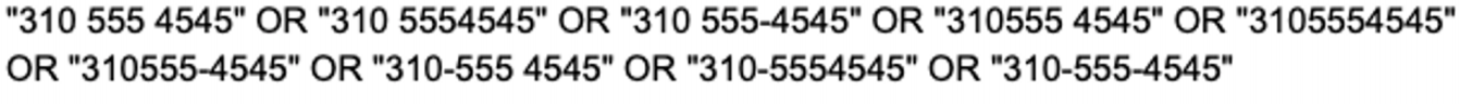 Phone Number Query