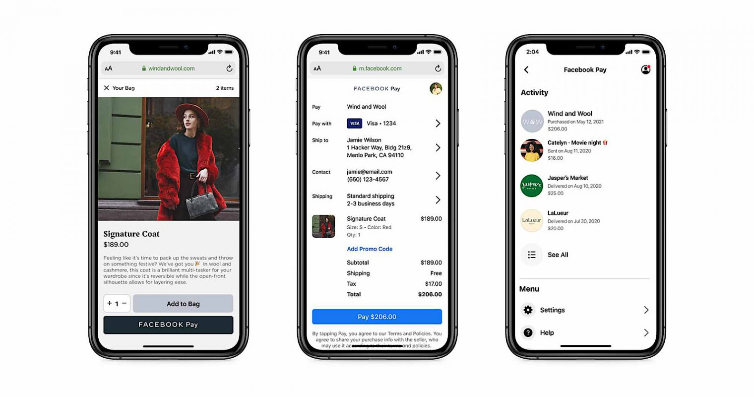 Facebook Pay Rolling Out to Shopify Sites in August
