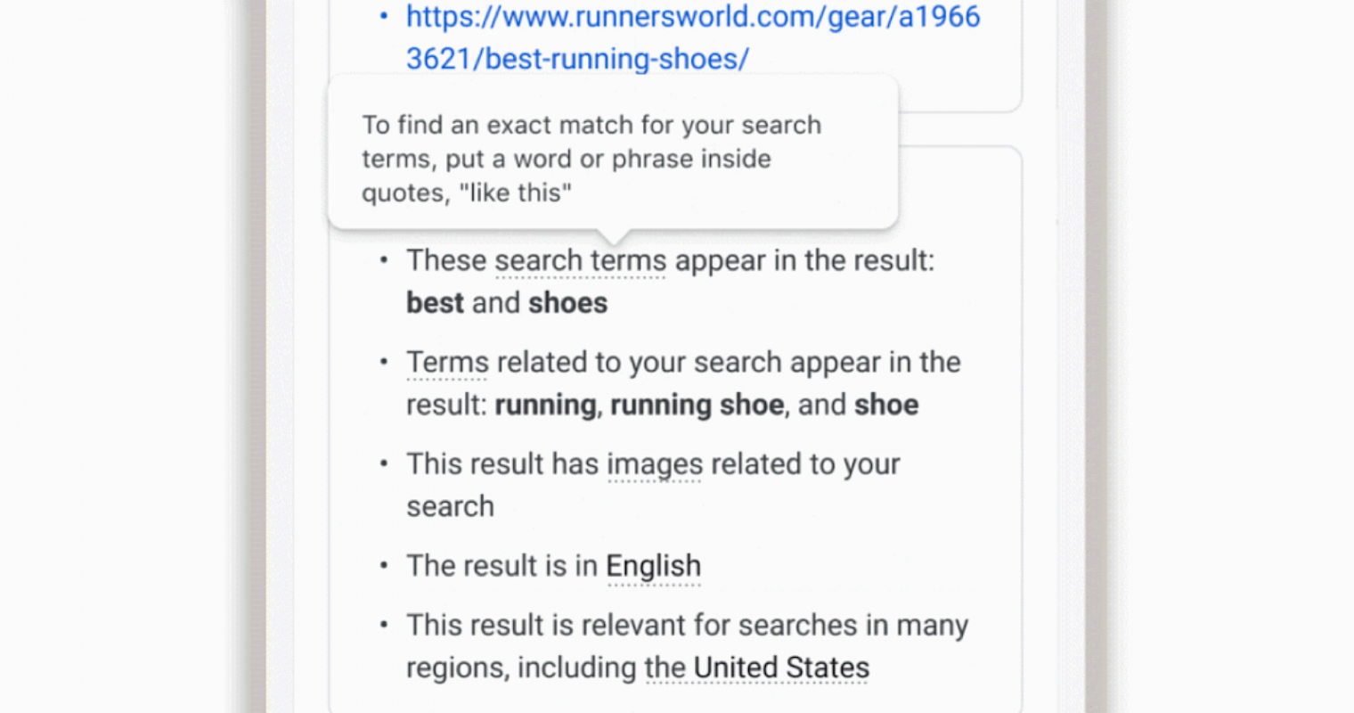 Google Expands 'About This Result' With Info On Ranking Factors