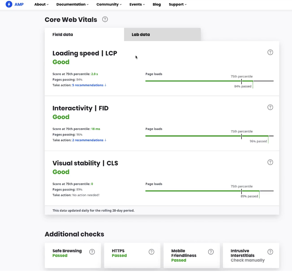 Google Search Console Adds Link to AMP Page Experience Guide