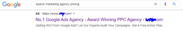 SERP result showing SEM com making claims.