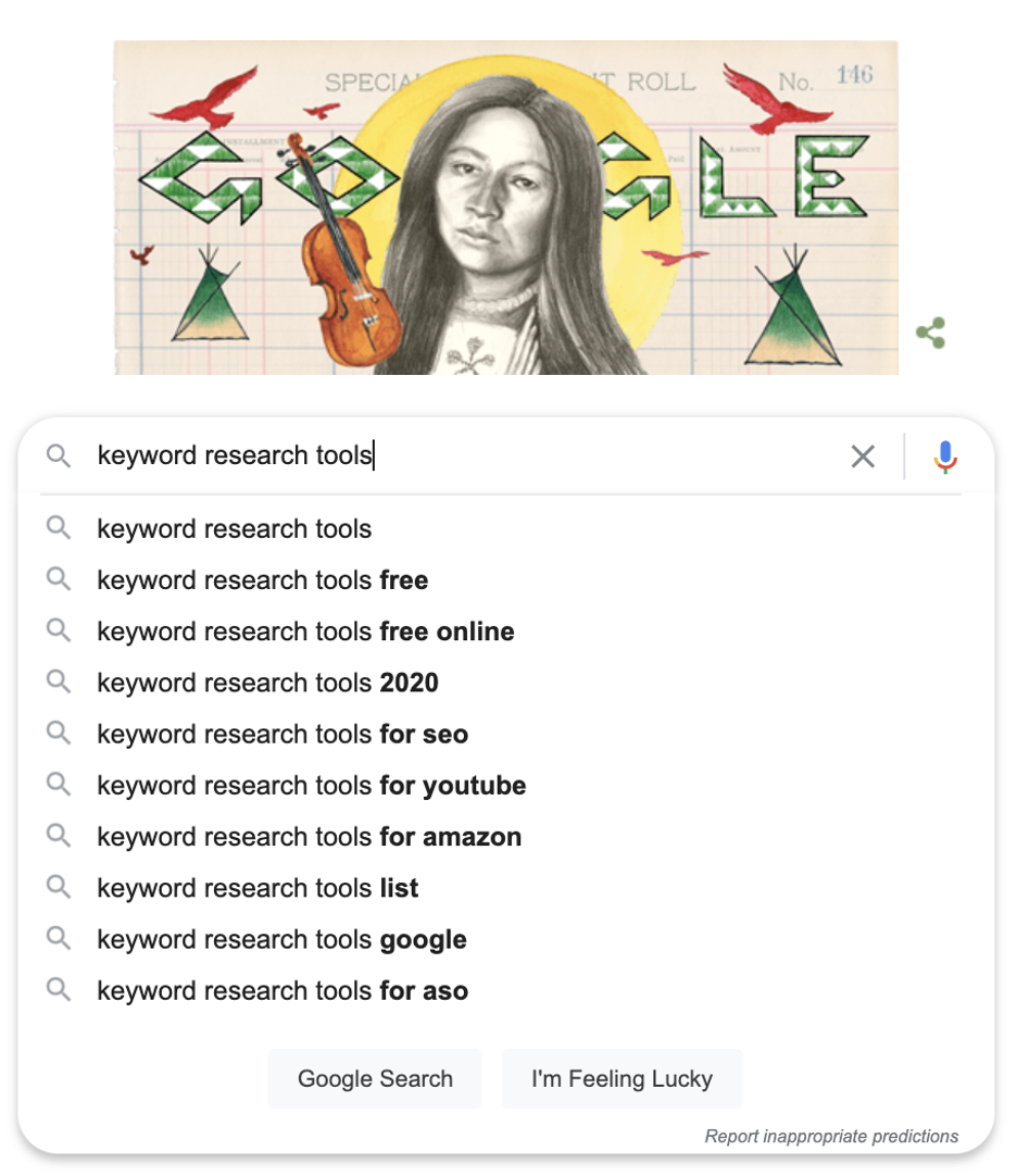 Free keyword research tools for SEO: Google Search Data