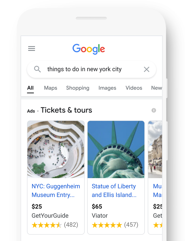 """Google Announces """"Things to Do"""" Free Listing & Ad Unit"""