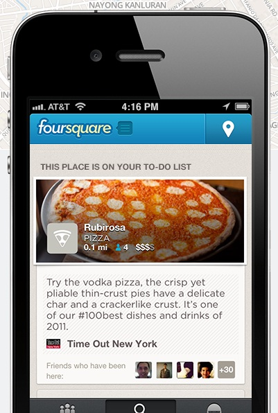 Foursquare Mobile