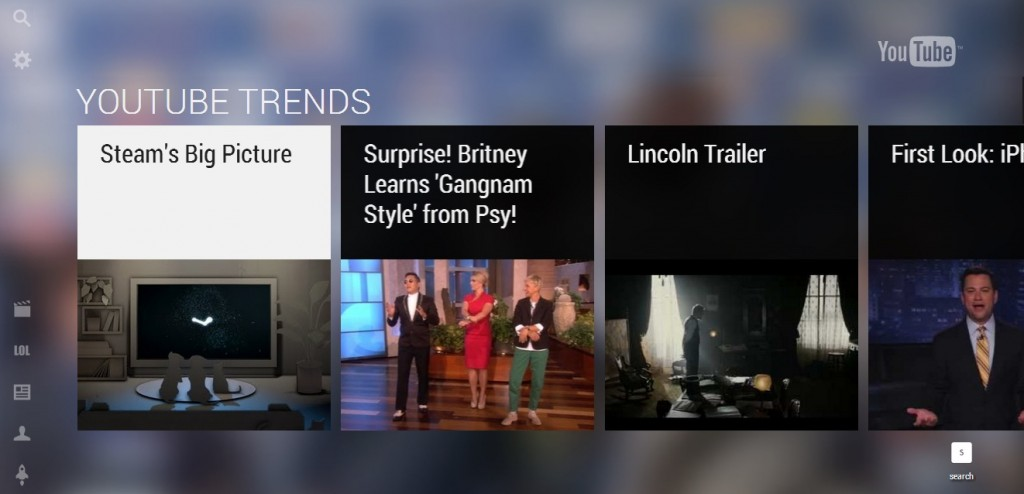Redesigned YouTube Leanback or YouTube TV